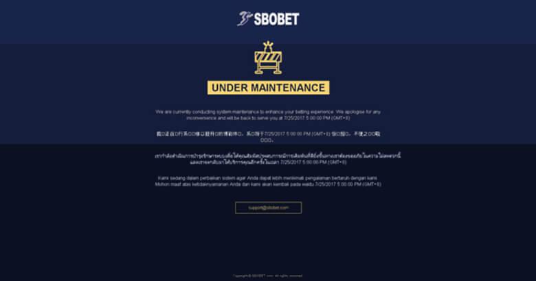 ปัญหา SBOBET เข้าไม่ได้